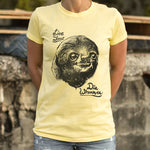 Live Slow Die Whenever Sloth T-Shirt (Ladies)