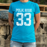 Polk High Number 33 Football T-Shirt (Ladies)