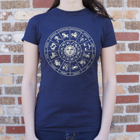 Zodiac Wheel T-Shirt (Ladies)