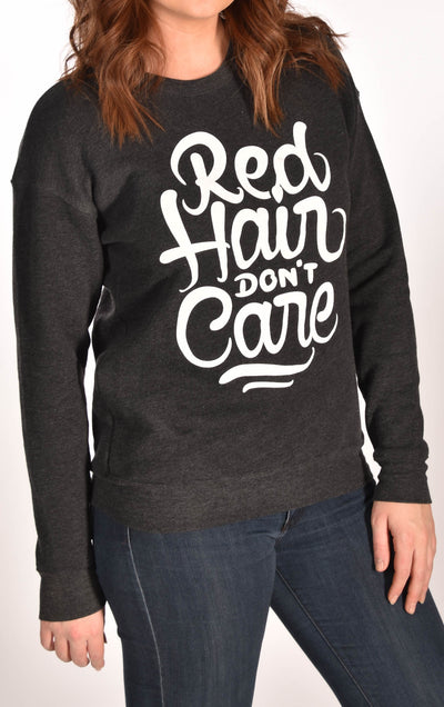 Red Hair Don't Care Swirl Sweatshirt Ginger Problems