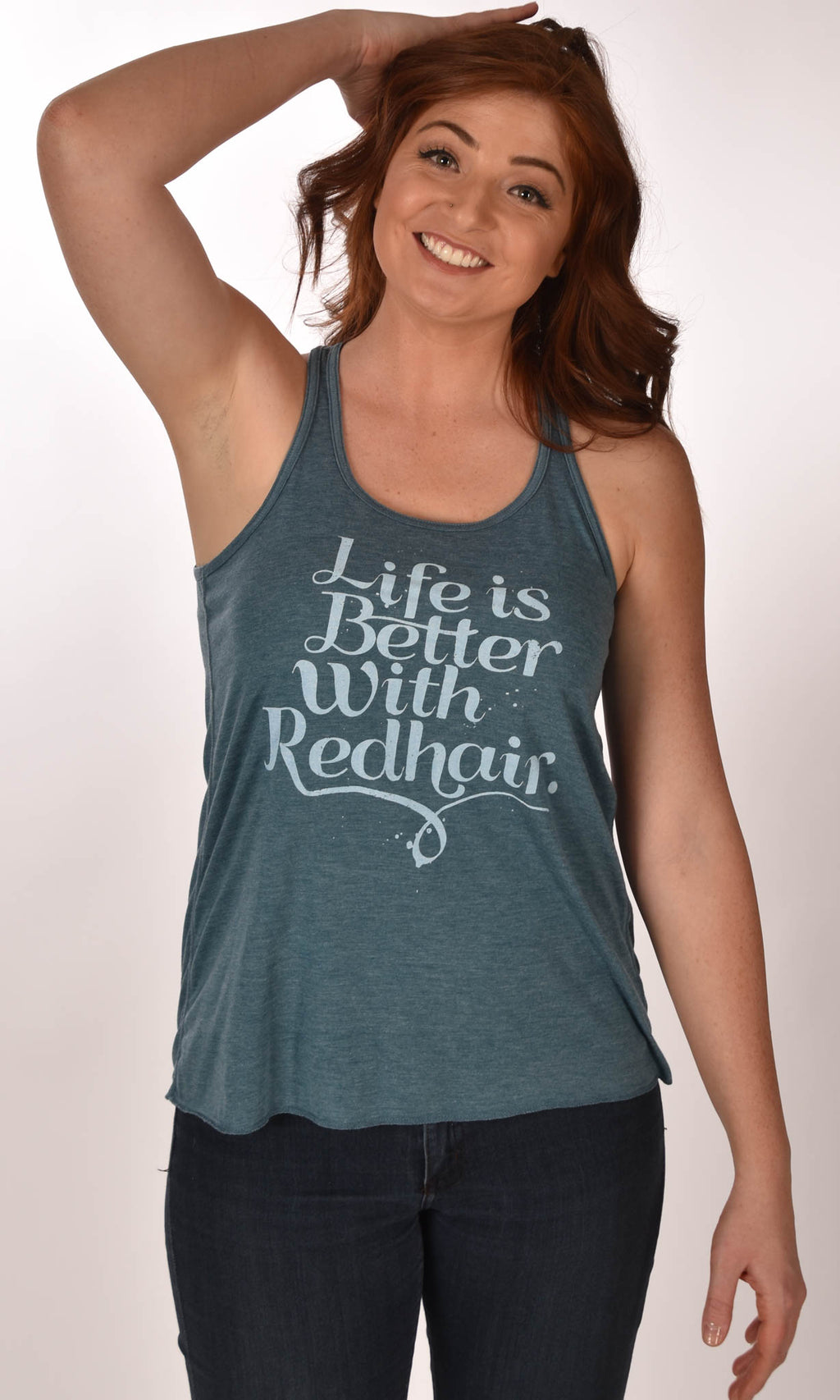 Life is Better with Red Hair Flowy Racerback Tank Ginger Problems - Red Hair Don't Care