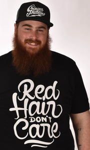 Red Hair Don't Care Swirl Tee Ginger Problems - Red Hair Don't Care