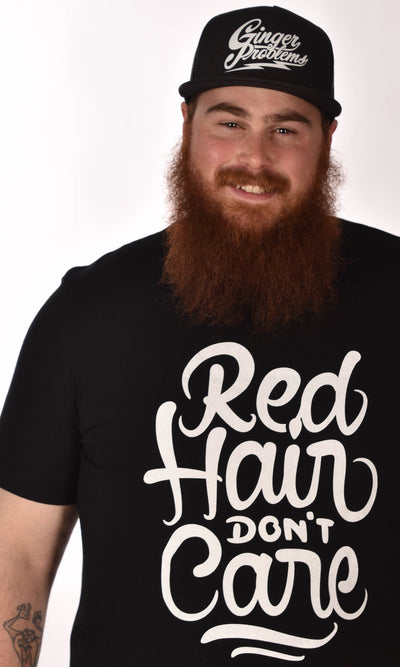 Red Hair Don't Care Swirl Unisex Tee Ginger Problems