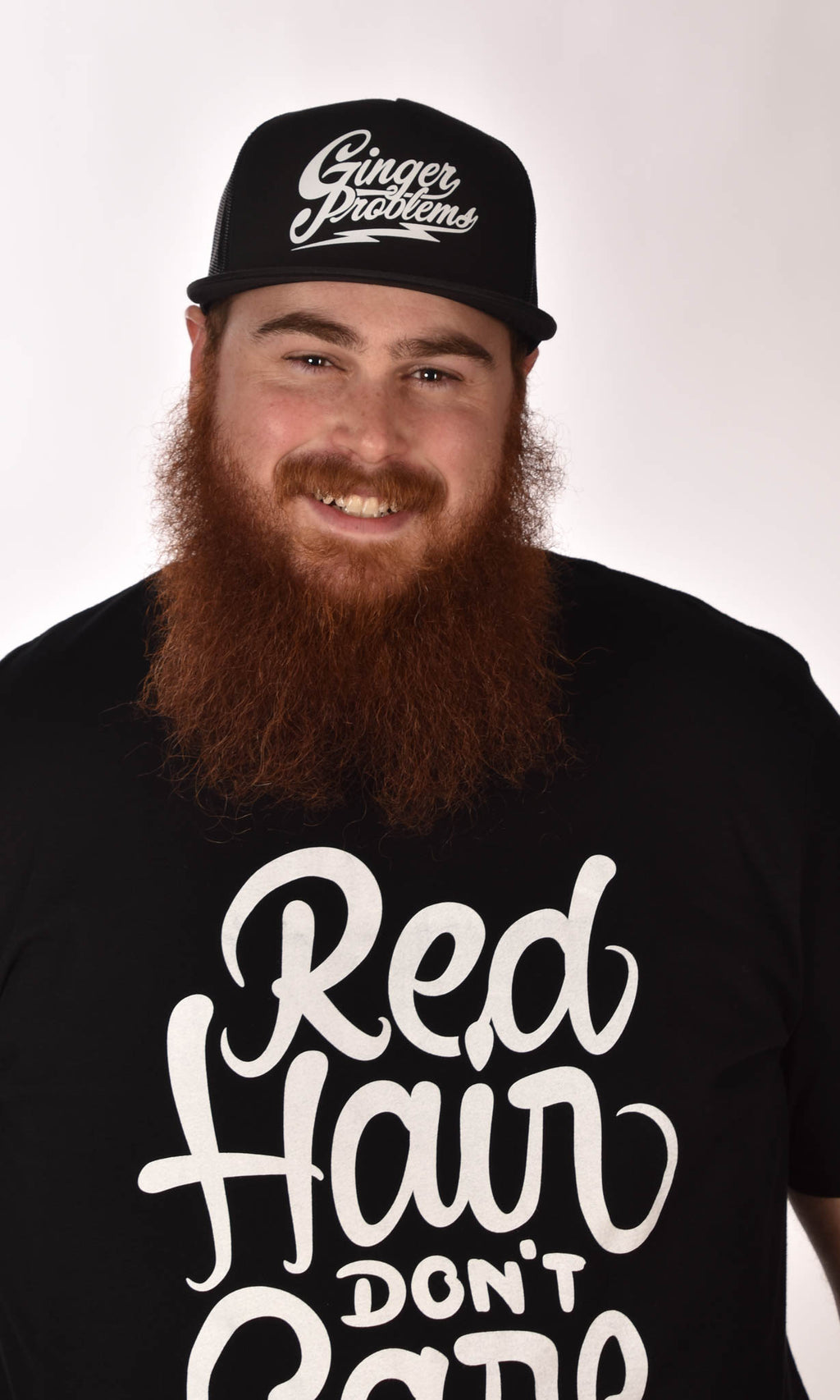 Red Hair Don't Care Swirl Tee Ginger Problems