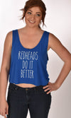 Redheads Do It Better Work Out Blue Tank Ginger Problems