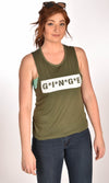 MASH Flowy Scoop Military Green Tank Ginger Problems