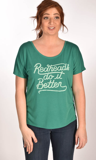 Redheads Do It Better Flowy Simple Tee Ginger Problems
