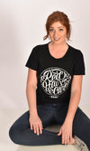 Red Hair Don't Care Circle Raw Neck Unisex Tee Ginger Problems