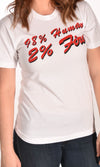 98% Human 2% Fire White Unisex Tee Ginger Problems