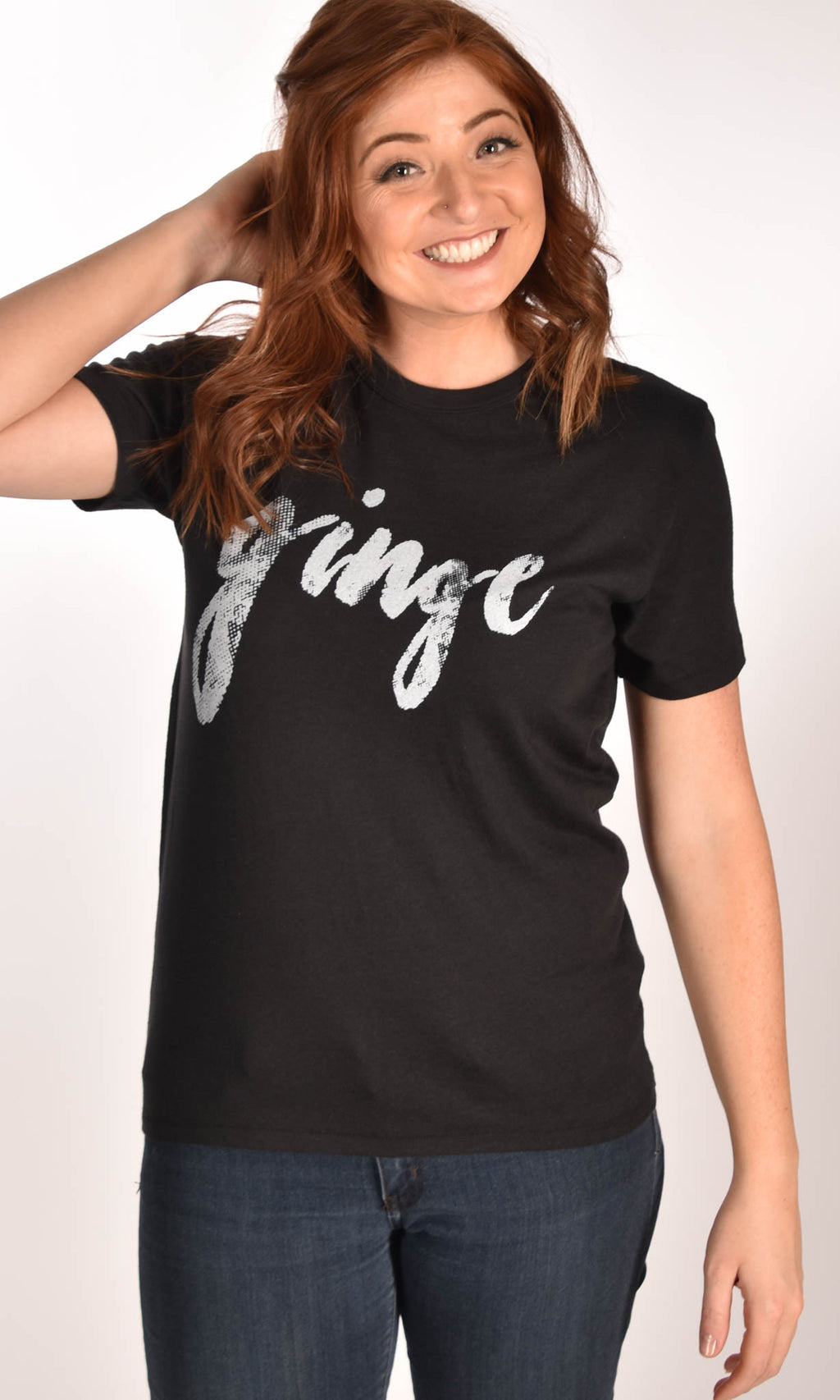 GINGE Vintage Black Tee Ginger Problems - Red Hair Don't Care