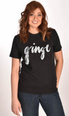 Ginge Black Unisex Tee Ginger Problems