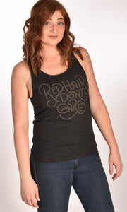 Red Hair Don_t Care Retro Tank Top Unisex Tri-blend Jersey Ginger Problems - Red Hair Don't Care