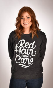 Red Hair Don't Care Swirl Sweatshirt Ginger Problems - Red Hair Don't Care