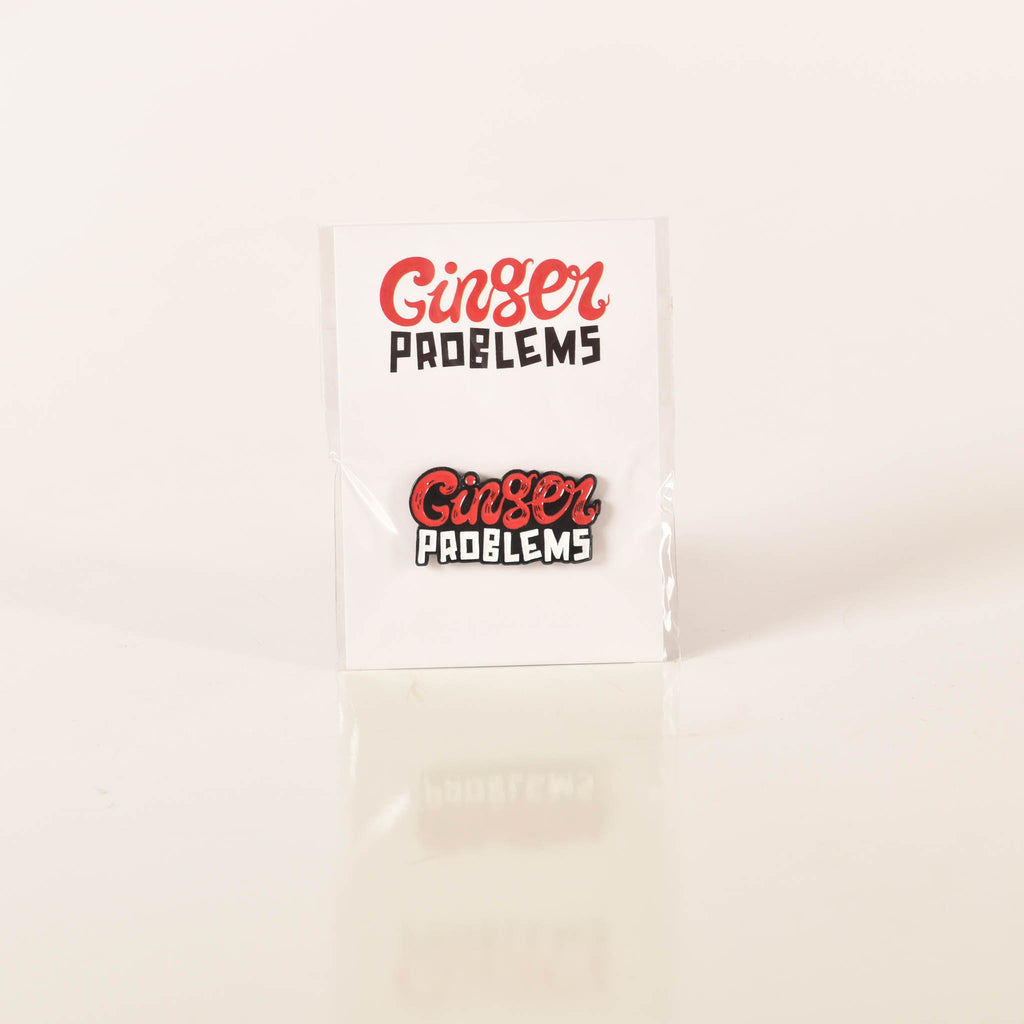 Ginger Problems Logo Pin Ginger Problems