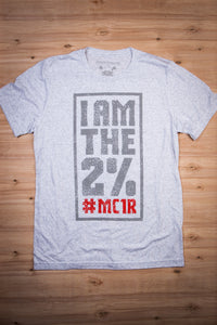 I Am The 2% #MC1R - White Fleck Tee Ginger Problems