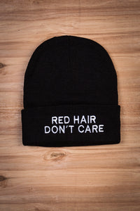 Red Hair Don't Care Beanie Ginger Problems