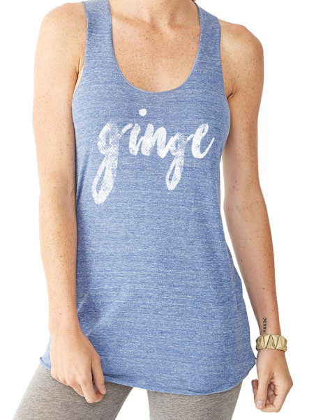 GINGE Vintage Blue Ladies Tank Top - PreOrder Ginger Problems - Red Hair Don't Care