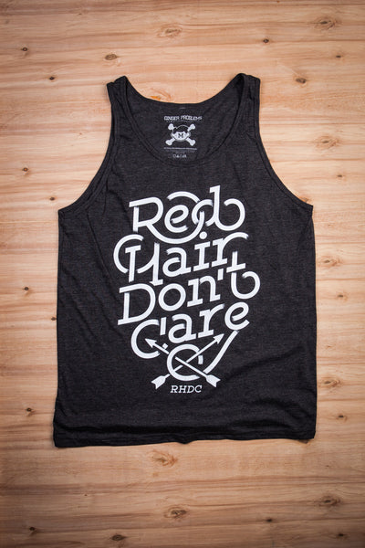 Red Hair Don't Care Fade Tank Top Ginger Problems - Red Hair Don't Care