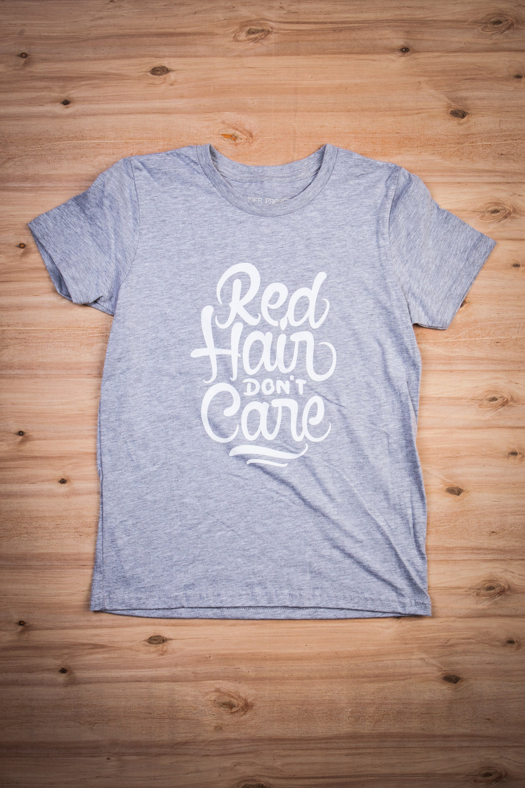Red Hair Don't Care Kids Tee Ginger Problems
