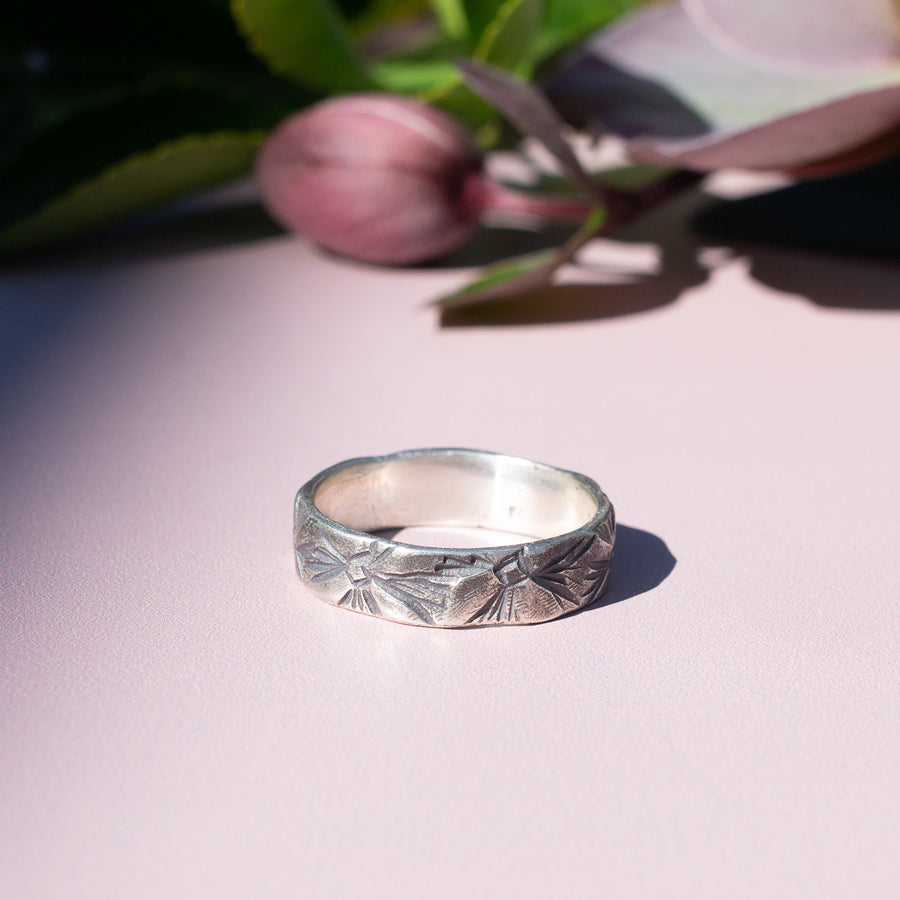 WESTERN FLORAL Band Ring