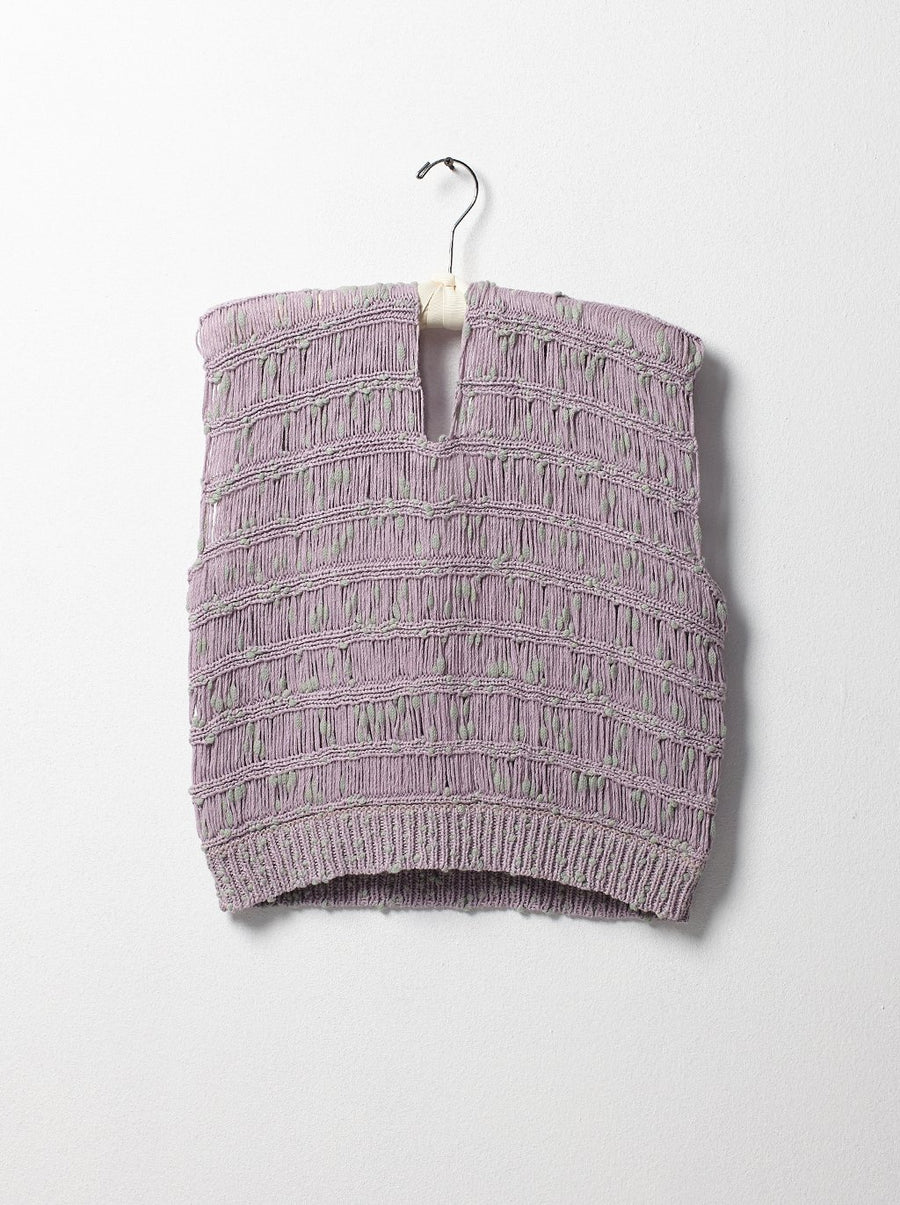 Capri Knitted Top Lavender/Cloud - Atelier Delphine