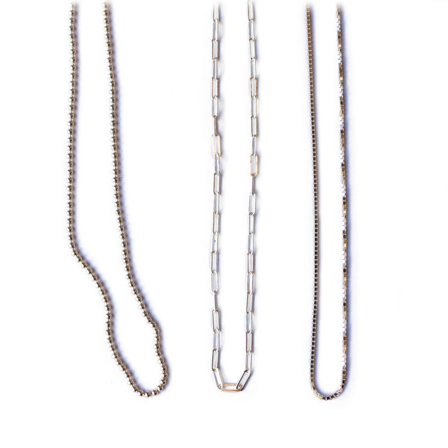 Chain Options for Charms - Sterling Silver or 14K gold