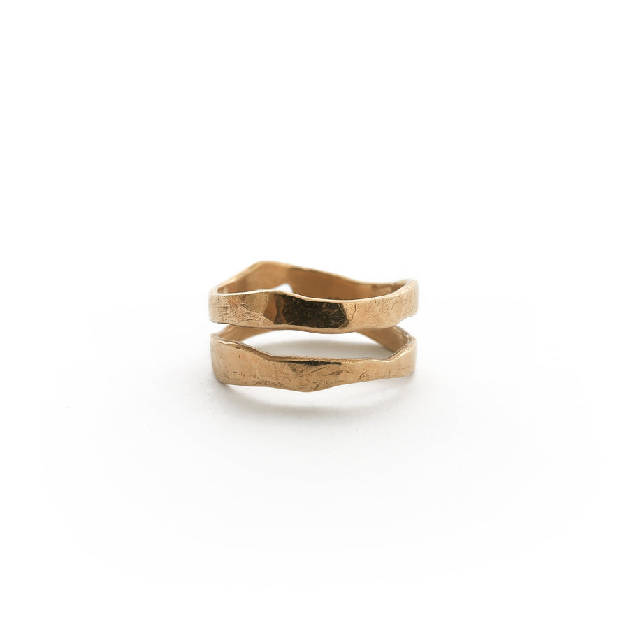 Ring - TWO RIVERS Narrow Band - 14K Gold