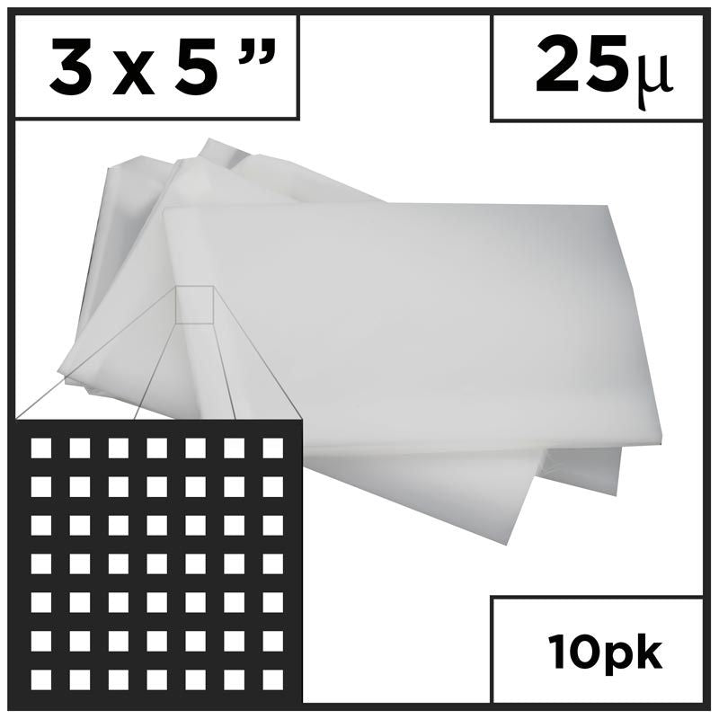 "3"" x 6"" Rosin Mesh Bags (Choose Micron)"
