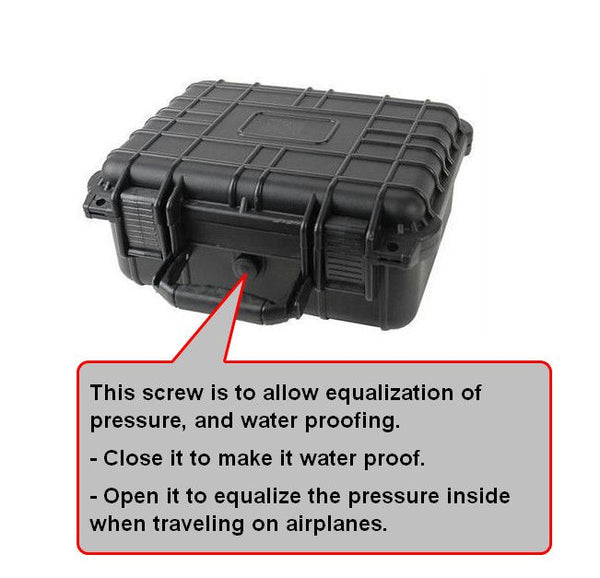Black Weatherproof Vape Case - Different Sizes