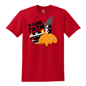 Major Pain Breakout T-Shirt Red