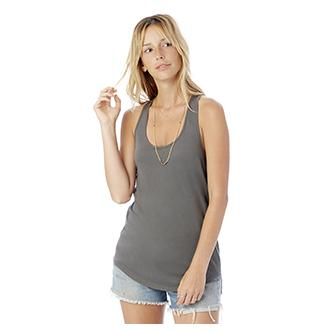 Alternative Apparel Ladies Shirttail Satin Jersey Tank