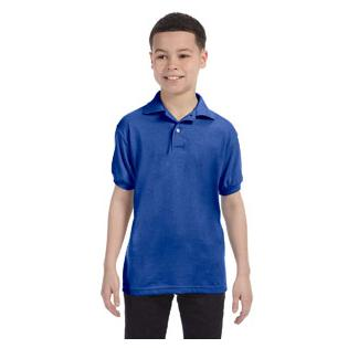 Hanes Youth 5.2 oz. 50/50 EcoSmart Jersey Knit Polo