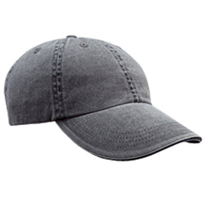Anvil Solid Low Profile Sandwich Trim Pigment Dyed Twill Cap