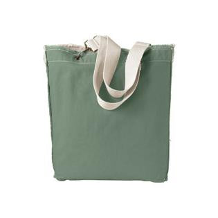 Authentic Pigment 14 oz. Direct Dyed Raw Edge Tote