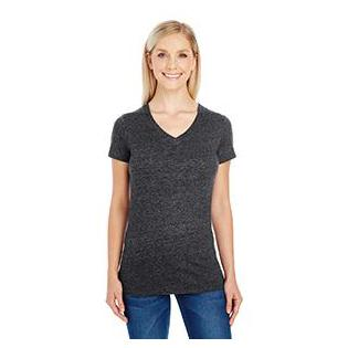 Threadfast Apparel Ladies Triblend Short Sleeve V Neck T-Shirt