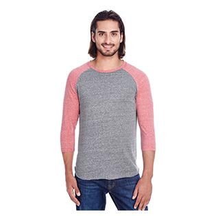 Threadfast Apparel Unisex Triblend 3/4 Sleeve Raglan