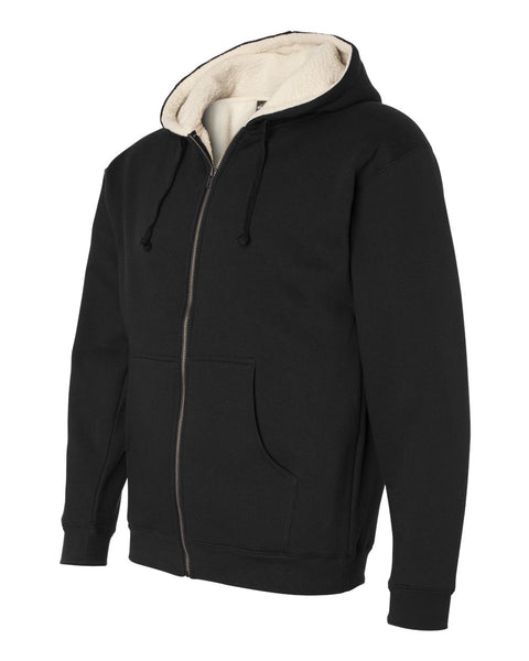 Independent Trading Co Sherpa Lined Full Zip Hooded Sweatshirt