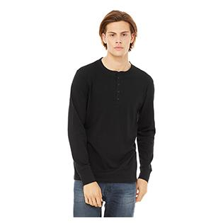 Bella + Canvas Mens Jersey Long Sleeve Henley