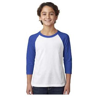 Next Level Youth CVC 3/4 Sleeve Raglan
