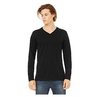 Bella + Canvas Unisex Jersey Long Sleeve V Neck T-Shirt