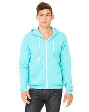 Bella + Canvas Unisex Poly Cotton Fleece Full Zip Hoodie