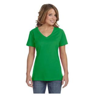 Anvil Ladies Ringspun Featherweight V Neck T-Shirt
