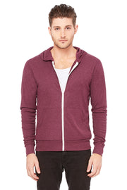 Bella + Canvas Unisex Triblend Full Zip Lightweight Hoodie