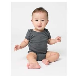 American Apparel Infant Baby Rib Short Sleeve One Piece