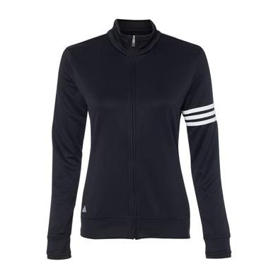 Adidas Women's ClimaLite 3 Stripes French Terry Full Zip Jacket