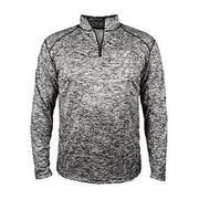 Badger Adult Blend Quarter Zip Long Sleeve Pullover