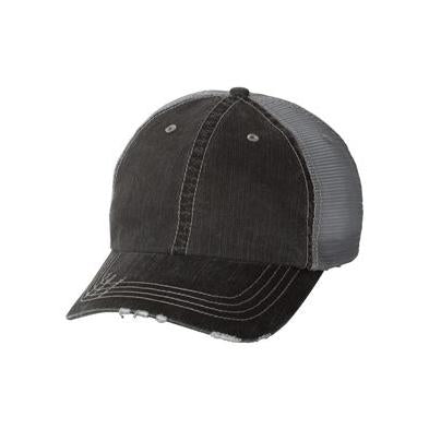 Mega Cap Herringbone Unstructured Trucker Cap