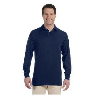 Jerzees Adult 5.6 oz. SpotShield Long Sleeve Jersey Polo