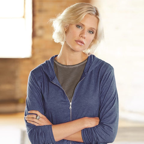 Anvil Tri Blend Ladies Full Zip Jacket