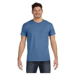 Hanes Mens 4.5 oz. 100% Ringspun Cotton nano T T-Shirt with Pocket